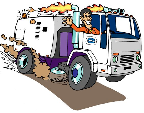 Street Sweeper Cartoon