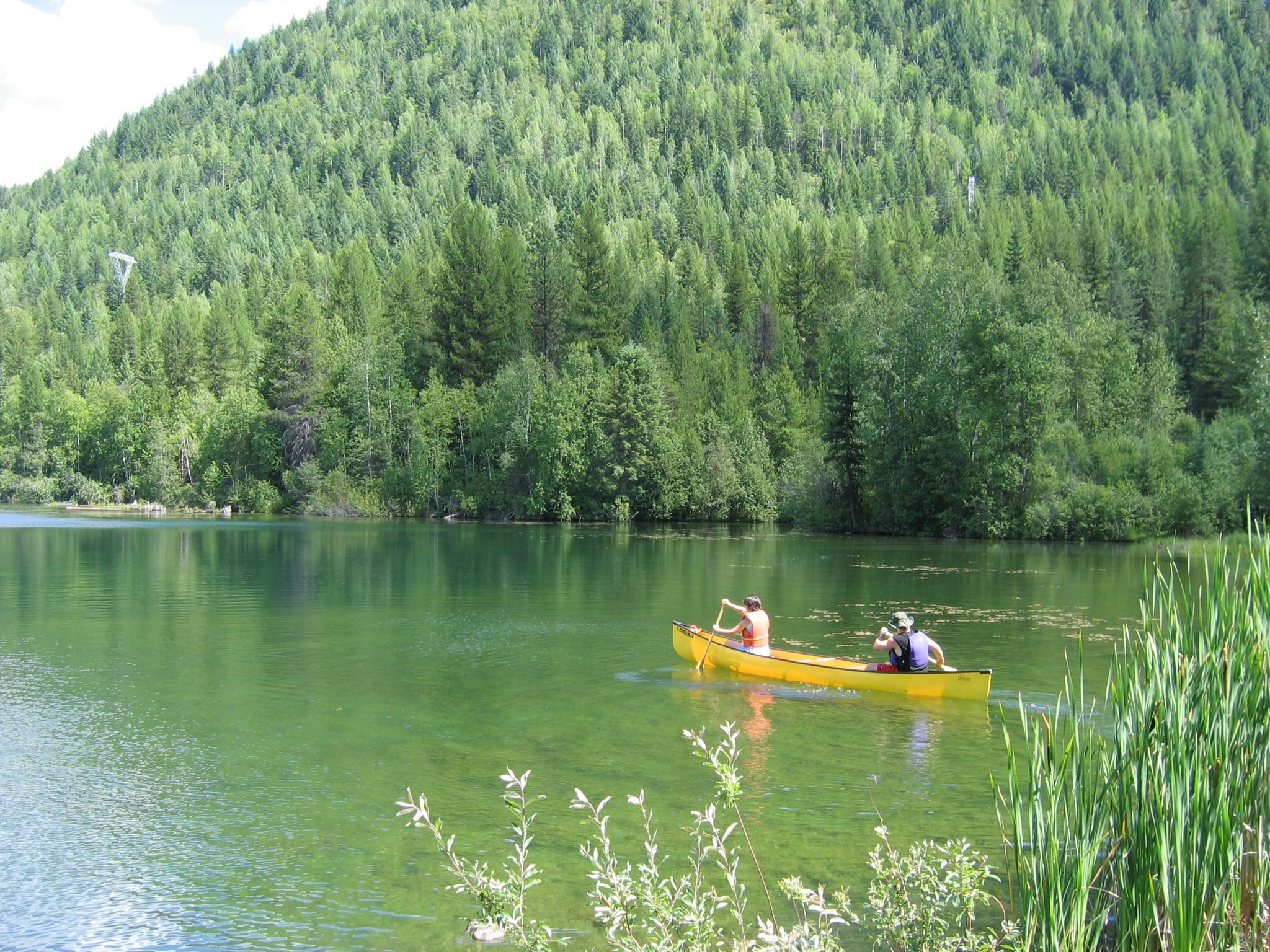 Yellow Canoe on Mtn Lake